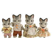 Buy Sylvanian Families Grey Cat Family Online at johnlewis.com