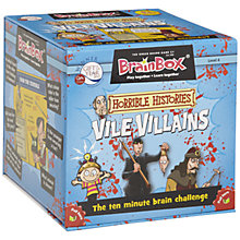 Buy BrainBox Horrible Histories Vile Villians Game Online at johnlewis.com