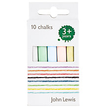 Buy John Lewis Chalk, Pack of 10, Multi Online at johnlewis.com