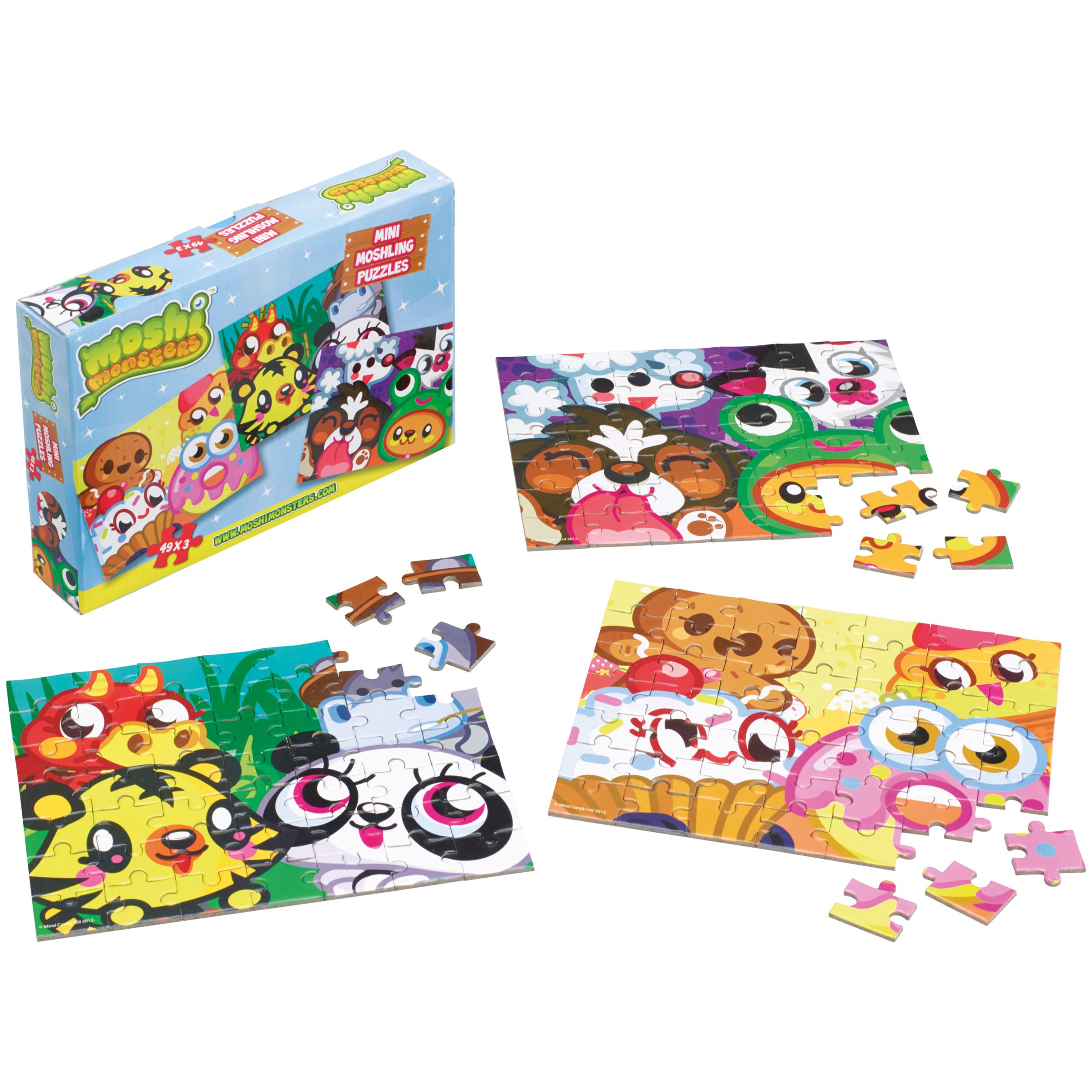 Moshi Monsters Mini Moshling Puzzles, 49 Pieces, Pack Of 3
