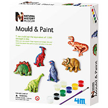 Buy Natural History Museum Mould & Paint Dinosaurs Kit Online at johnlewis.com