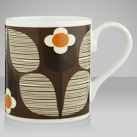 Buy Orla Kiely Wallflower Chocolate Mug Online at johnlewis.com