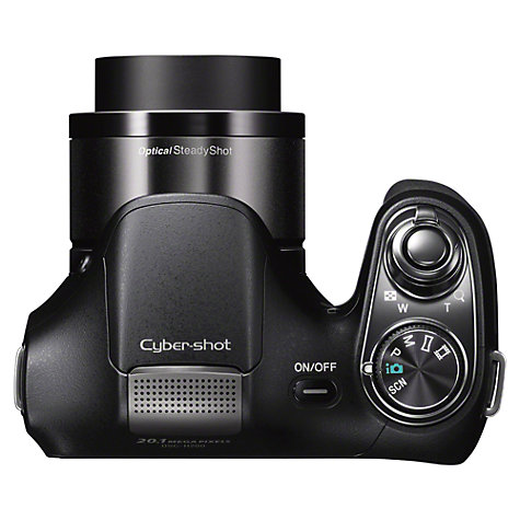 "Buy Sony Cyber-Shot DSC-H200 Bridge Camera, HD 720p, 20.1MP, 26x Optical Zoom, 3"" LCD Screen, Black Online at johnlewis.com"
