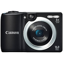 "Buy Canon PowerShot A1400 Camera, HD 720p, 16MP, 5x Optical Zoom, 2.7"" LCD Screen, Black Online at johnlewis.com"