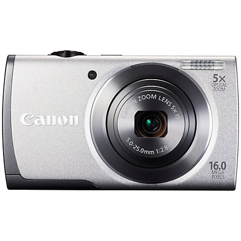 "Buy Canon PowerShot A3500 IS Camera, HD 720p, 16MP, 5x Optical Zoom, Wi-Fi with 3"" LCD Screen Online at johnlewis.com"