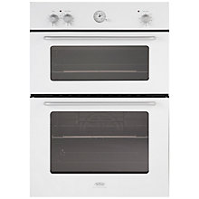 Buy Belling by Sebastian Conran Double Electric Oven and 70cm Gas Hob, White Online at johnlewis.com