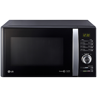 Image of LG MS2382B Microwave Oven, Silver/Black