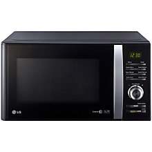 Buy LG MS2382B Microwave Oven, Silver/Black Online at johnlewis.com