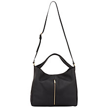 Buy Whistles Brook Hobo Handbag, Black Online at johnlewis.com