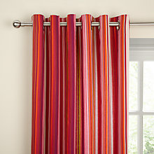 Buy Scion Berry Tree Stripe Lined Eyelet Curtains, Berry Red Online at johnlewis.com