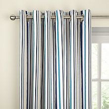 Buy Scion Flight Lined Eyelet Curtains, Blue, Online at johnlewis.com