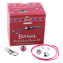 Buy Pippin Berries Beaded Bag Charm Kit, Raspberry Online at johnlewis.com
