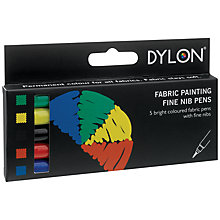 Buy Dylon Fabric Painting Fine Nib Pens Online at johnlewis.com