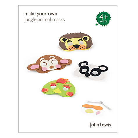 Buy John Lewis Make Your Own Jungle Animal Masks Online at johnlewis.com