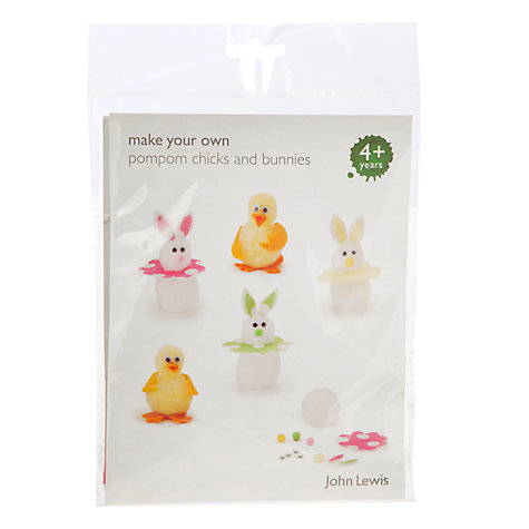 Buy John Lewis Make Your Own Pompom Chicks and Bunnies Online at johnlewis.com