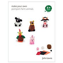 Buy John Lewis Make Your Own Pompom Farm Animals Online at johnlewis.com