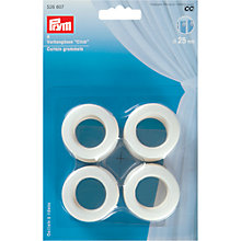 Buy Prym 25mm Curtain Grommets, Pack of 8, White Online at johnlewis.com