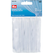 Buy Prym 26mm Pleating Tape, Pleat of 3, 10m, White Online at johnlewis.com