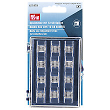 Buy Prym CB Bobbins and Storage Box, Pack of 12 Online at johnlewis.com