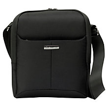 Buy Samsonite Ergo Biz Cross Over Bag, Black Online at johnlewis.com