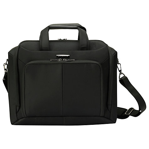"Buy Samsonite Ergo Biz 14"" Laptop Shoulder Bag, Black Online at johnlewis.com"