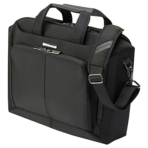 "Buy Samsonite Ergo Biz 16"" Laptop Shoulder Bag, Black Online at johnlewis.com"