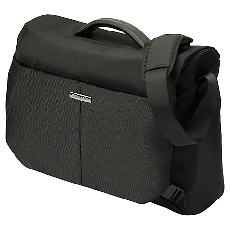 "Buy Samsonite Ergo Biz 16"" Laptop Messenger Bag, Black Online at johnlewis.com"