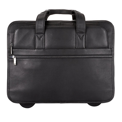 Buy John Lewis New Detroit Leather 2-Wheel Mobile Office Online at johnlewis.com