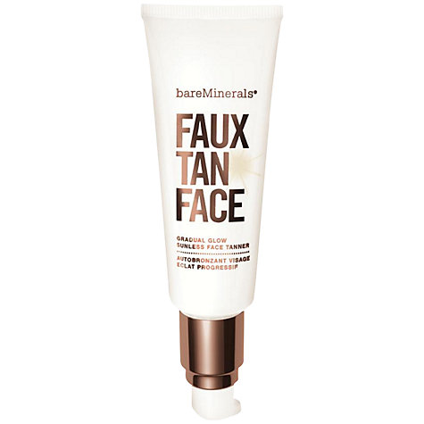 Buy bareMinerals Faux Tan Face Gradual Glow Sunless Tanner, 50ml Online at johnlewis.com