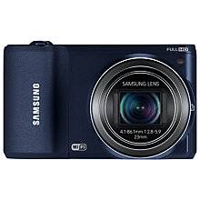 "Buy Samsung WB800F Camera, HD 1080p, 21x Optical Zoom, 16.3MP, Wi-Fi with 3"" Touch Screen , Black with FREE Case Online at johnlewis.com"
