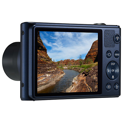 "Buy Samsung WB30F Digital Camera, HD 720p, 10x Optical Zoom, 16.2MP, 3"" LCD Screen, Black Online at johnlewis.com"