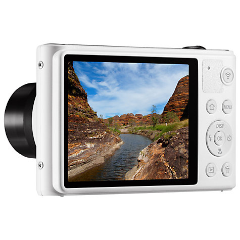 "Buy Samsung WB30F Digital Camera, HD 720p, 10x Optical Zoom, 16.2MP, 3"" LCD Screen, White Online at johnlewis.com"