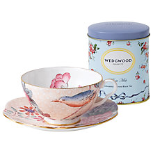 Buy Wedgwood Cuckoo Cup and Saucer Set, Peach + FREE Tea Caddy Online at johnlewis.com