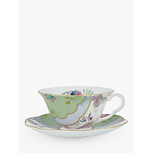 Buy Wedgwood Butterfly Bloom Cup and Saucer Set, Green Online at johnlewis.com