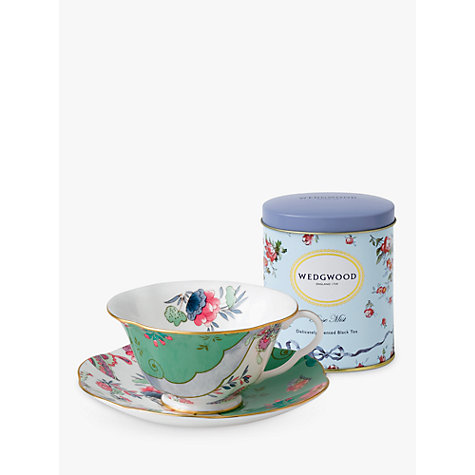Buy Wedgwood Butterfly Bloom Cup and Saucer Set, Green + FREE Tea Caddy Online at johnlewis.com