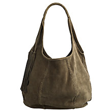 Buy Jigsaw Orla Suede Hobo Bag Online at johnlewis.com