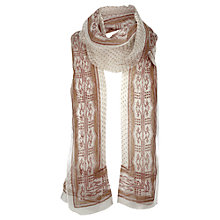 Buy Jigsaw Tribal Spot Scarf, Ochre Online at johnlewis.com