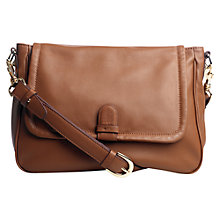 Buy Jigsaw Alice Satchel Handbag, Tan Online at johnlewis.com