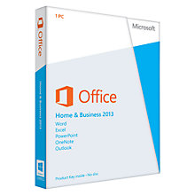 Buy Microsoft Office Home and Business 2013, 1 PC Online at johnlewis.com