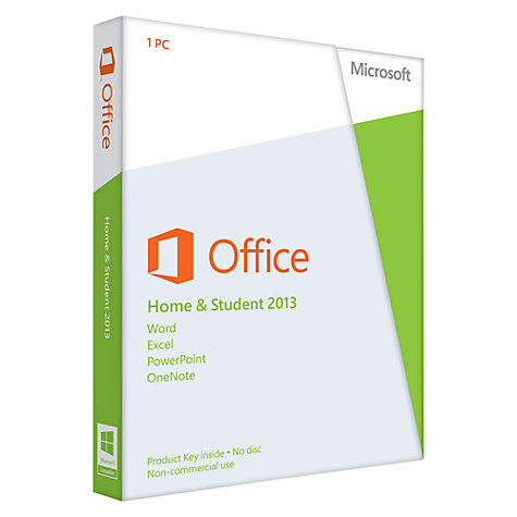Buy Microsoft Office Home and Student 2013, 1 PC Online at johnlewis.com