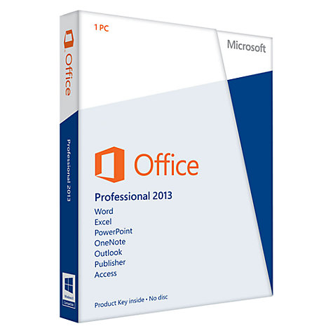 Buy Microsoft Office Professional 2013, 1 PC Online at johnlewis.com