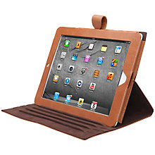 Buy John Lewis Leather Book Case for iPad 2, 3rd generation iPad & iPad with Retina Display, Brown Online at johnlewis.com