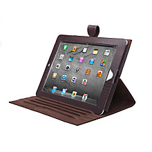 Buy John Lewis Leather Book Case for iPad 2, 3rd generation iPad & iPad with Retina Display, Crocodile Brown Online at johnlewis.com
