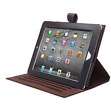 Buy John Lewis Leather Book Case for iPad 2, 3rd generation iPad & iPad with Retina Display, Tan Online at johnlewis.com
