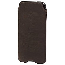 Buy John Lewis Leather Sleeve for iPhone 5, Brown Online at johnlewis.com