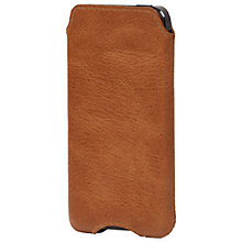 Buy John Lewis Leather Sleeve for iPhone 5, Tan Online at johnlewis.com