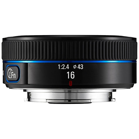 Buy Samsung NX 16mm f/2.4 Ultra Wide Angle Lens Online at johnlewis.com