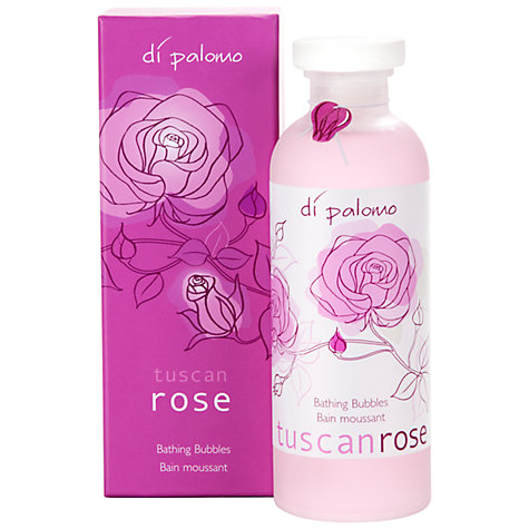 Buy Di Palomo Tuscan Rose Bathing Bubbles, 300ml Online at johnlewis.com