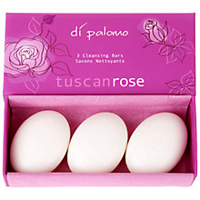 Buy Di Palomo Tuscan Rose Cleansing Bars, 3 x 50g Online at johnlewis.com