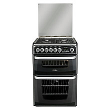 Buy Hotpoint Cannon CH60DHKFS Dual Fuel Cooker, Black Online at johnlewis.com